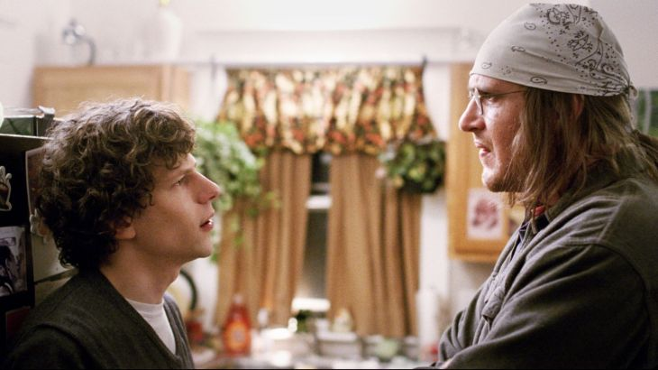"Jesse Eisenberg i Jason Segel w ""The End of the Tout"""